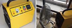 最新のオゾン脱臭機を導入