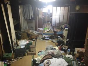 大阪市西成区にて遺品整理作業前