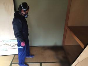 腐乱死体の現場の特殊清掃(大阪市西成区)